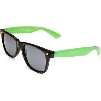 dcfc6294732c Ladies Mens Festival Style Wayfarer Sunglasses Two Tone Pink White Green &  Black